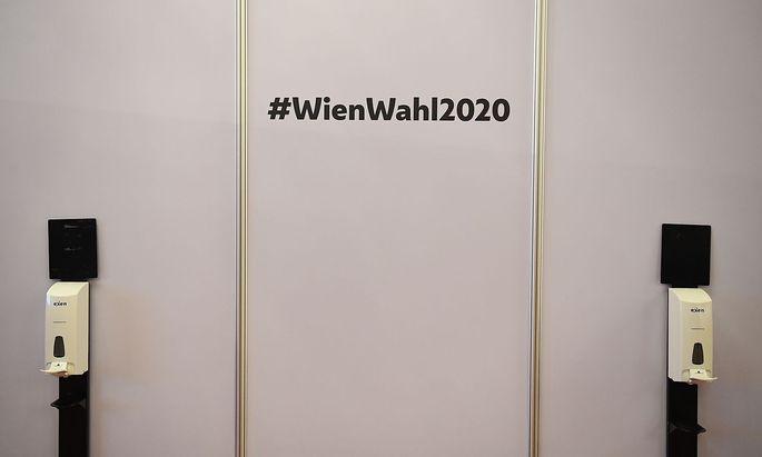 WIEN-WAHL: CORONA SCHUTZMASSNAHMEN - DESINFEKTIONSMITTEL
