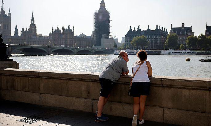 Blick auf das britische Parlament - auch für den chinesischen Botschafter blieb es bei der Außenansicht.