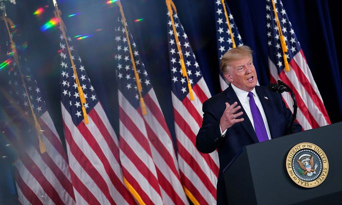 President Donald Trump Delivers Remarks at a Bedminster News Conference