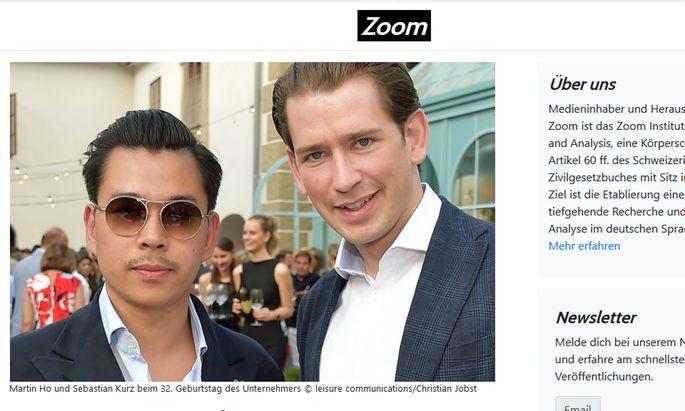 """""""Zoom"""" berichtet über den Unternehmer Martin Ho und Sebastian Kurz, ÖVP"""
