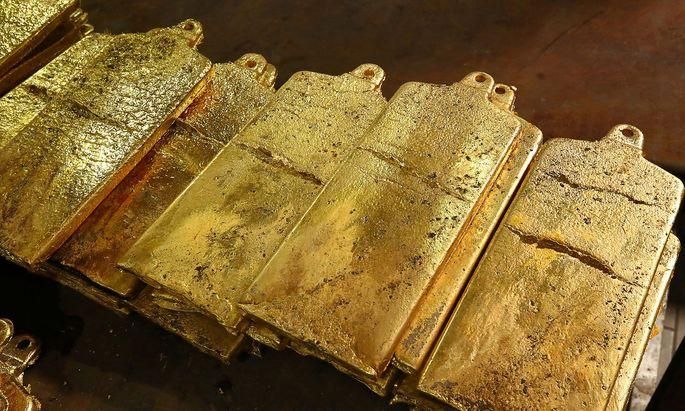 Der Goldpreis steht bei knapp über 1.500 Dollar je Feinunze.