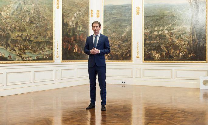 Noch im Winterpalais des Prinzen Eugen, bald im Kanzleramt: ÖVP-Obmann Sebastian Kurz.