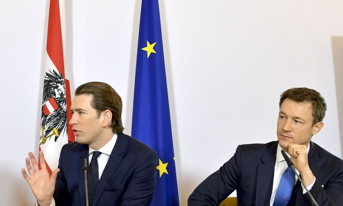 Bundeskanzler Sebastian Kurz, Finanzminister Gernot Blümel (beide ÖVP)