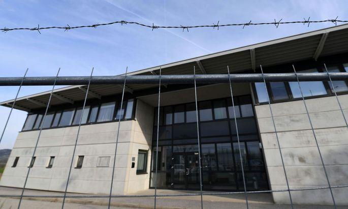 Das mittlerweile geschlossene Asylquartier in Drasenhofen.
