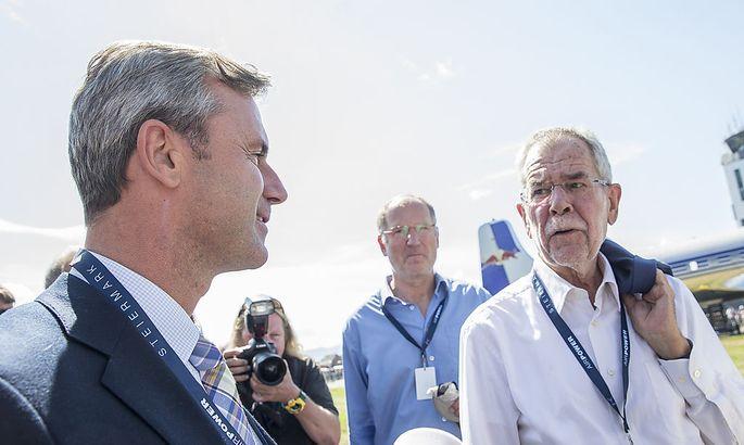 Hofer und Van der Bellen am Samstag bei der Flugshow Airpower
