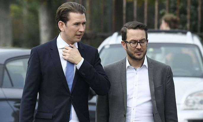 Sebastian Kurz vor der Klubsitzung der ÖVP
