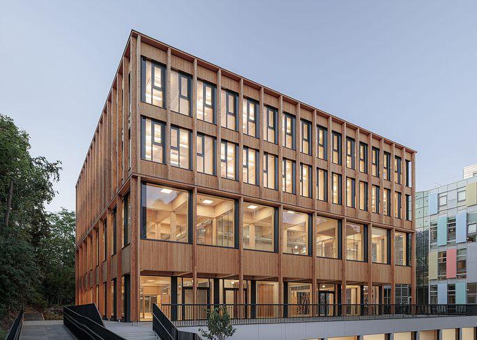 Prämiertes Seminargebäude an der Türkenschanze.