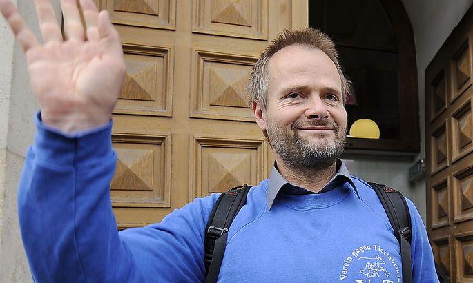 Martin Balluch durfte im Mai 2011 (Bild) als freier Mann das Gericht verlassen.