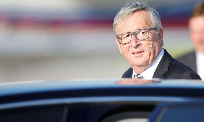 President of the EU Commission Jean-Claude Juncker arrives for the G20 leaders summit in Hamburg