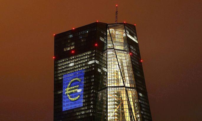 Das Hauptquartier der Europäischen Zentralbank in Frankfurt.