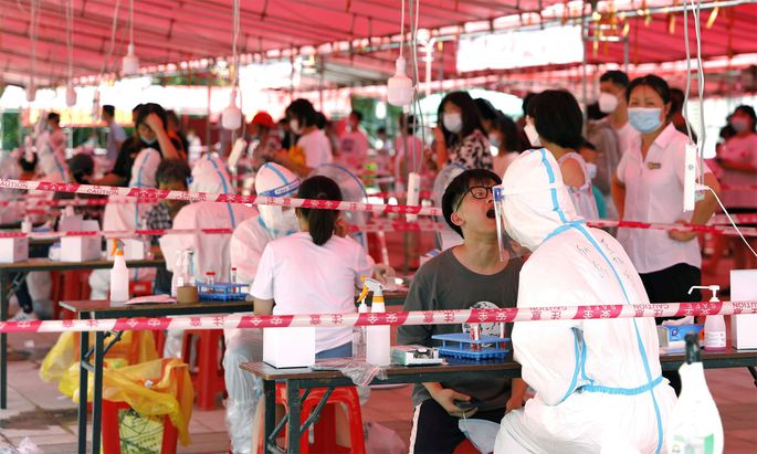 In der Provinz Fujian wird wieder massiv getestet.