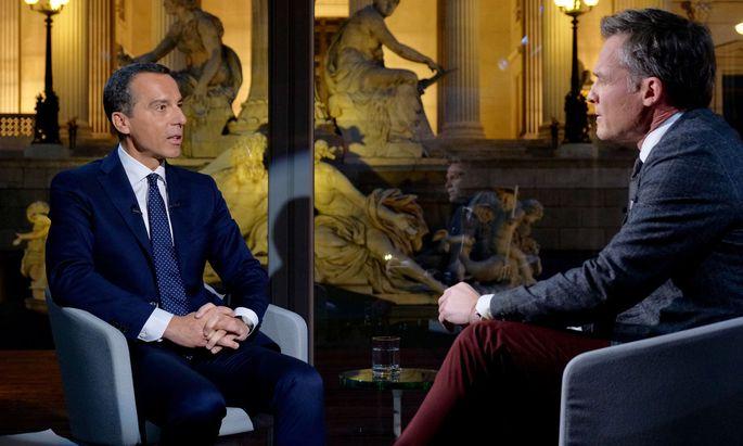 Christian Kern im ORF-Sommergespräch bei Tarek Leitner