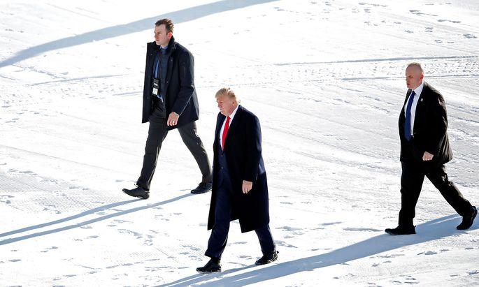 Ankunft Donald Trump: Die Jahrestagung des Weltwirtschaftsforums beginnt am heutigen Dienstag.