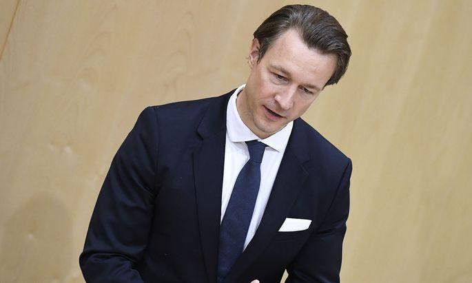 Finanzminister Gernot Blümel (ÖVP) im Rahmen einer Fragestunde im Nationalrat.