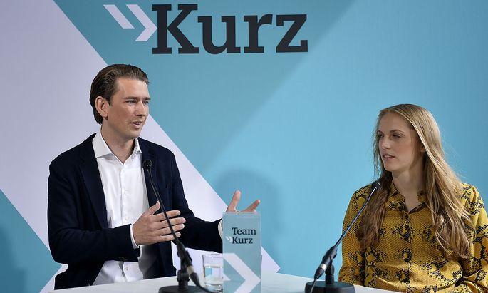 ÖVP-Chef Kurz präsentiert Kira Grünberg