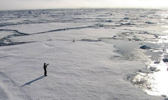 A member of a team of Cambridge scientists trying to find out why Arctic sea ice is melting so fast,