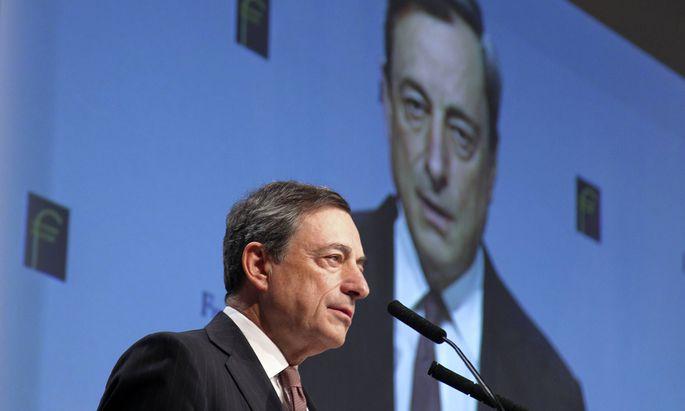 21 11 2014 Frankfurt DEU Mario Draghi Pr�sident der Europ�ischen Zentralbank spricht auf dem Fr