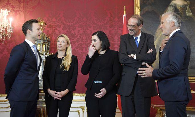 Drei ehemalige ÖVP-Minister der einstigen türkis-blauen Regierung nehmen nun im Nationalrat Platz.