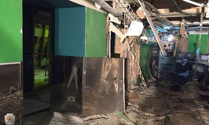 Explosion in einem Supermarkt in St. Petersburg.