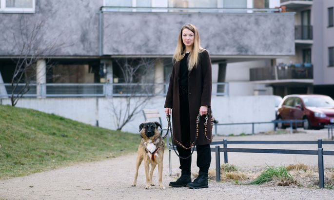 Der einjährige Schäfer-Mix Mickey zog vor wenigen Tagen bei Bettina Loidl ein. Die 29-Jährige ist Fotografin, spezialisiert auf Hunde, Katzen und Pferde.