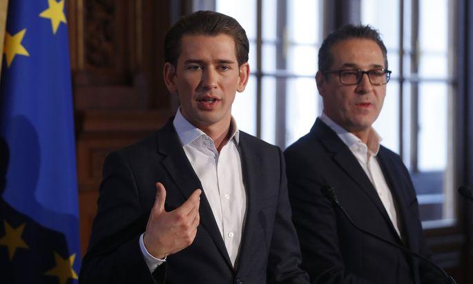 Sebastian Kurz und Heinz-Christian Strache.