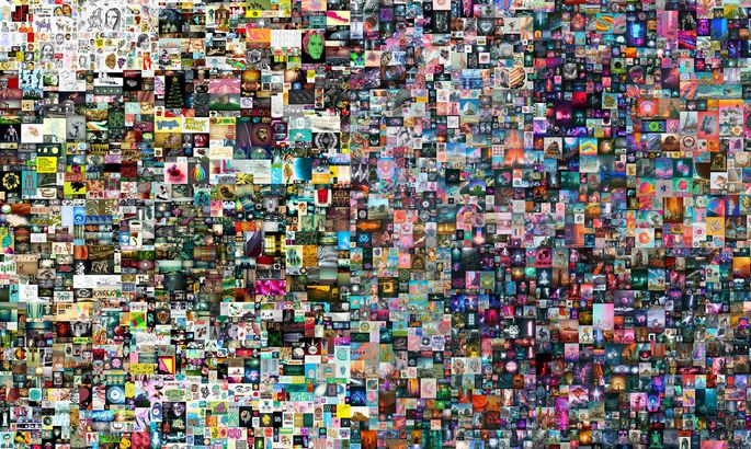 """""""Everydays: The First 5000 Days"""" ist das digitale NFT-Kunstwerk von Beeple, das Christie's versteigert."""