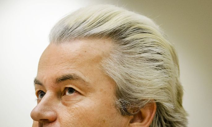 Gebleicht und geföhnt: Die Wasserstoffmähne ist Geert Wilders Markenzeichen.