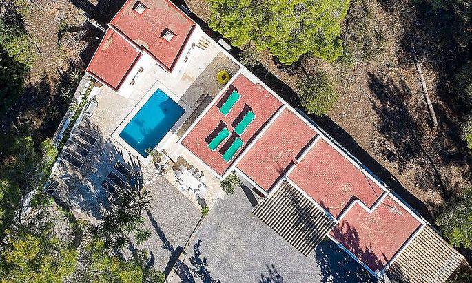 Die Villa, in der das Ibiza-Video gedreht wurde.