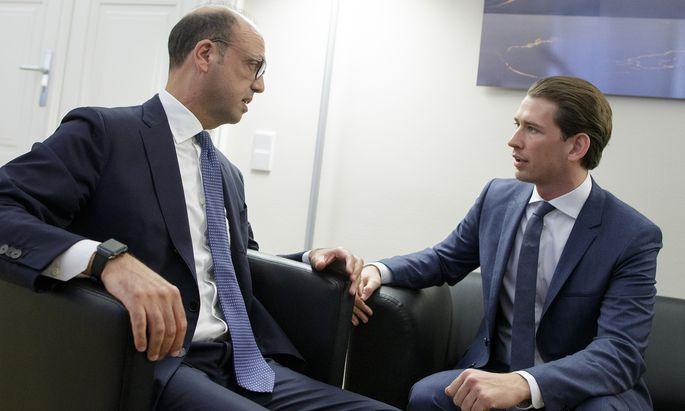 ITALIENISCHER AUSSENMINISTER ALFANO IN WIEN: ALFANO / KURZ