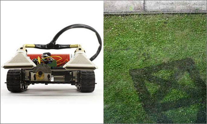 Mit dem Rasenmäher die Gärten Wiens ''hacken''