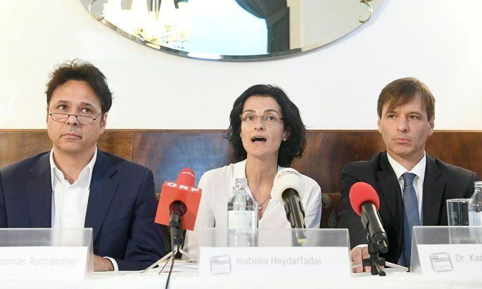Thomas Rathammer, Isabella Heydarfadai und Karl-Heinz Plankel