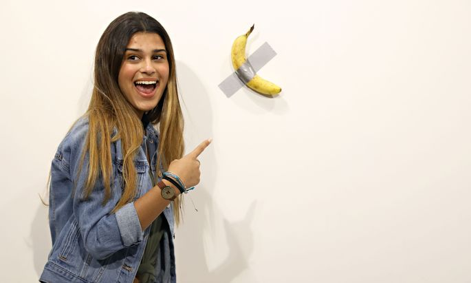 Diese Banane ist Selfiestar und Gesprächsthema Nummer eins in Miami.