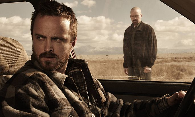 Jesse Pinkman Aaron Paul and Walter White Bryan Cranston Breaking Bad _ Season 5B _ Gallery