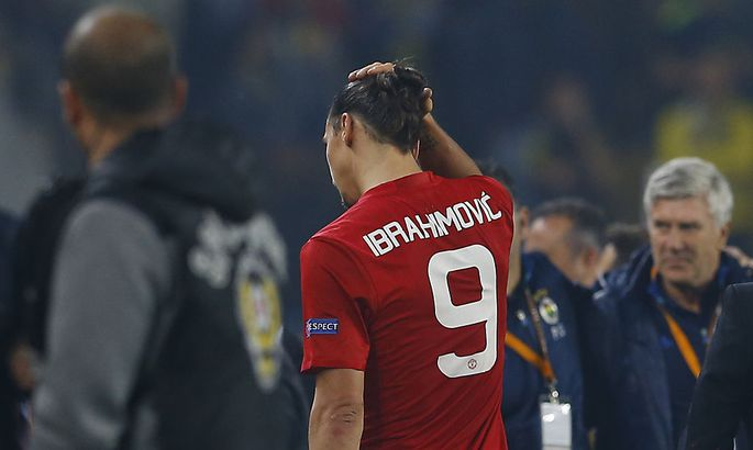 Football Soccer - Fenerbahce SK v Manchester United - UEFA Europa League Group Stage - Group A - SK Sukru Saracoglu Stadium, Istanbul, Turkey - 3/11/16 Manchester United's Zlatan Ibrahimovic looks dejected after the game Reuters / Murad Sezer Livepic EDI