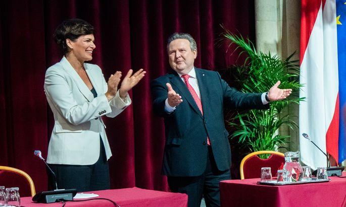 Bundesparteichefin Rendi-Wagner hat am Montag die Parteigremien besucht. Unterstützung kommt von der mächtigen Wiener Landesorganisation.