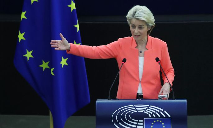 EU-Kommissionspräsidentin Ursula von der Leyen am Mittwoch.