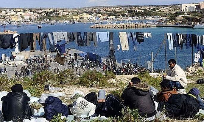 Lampedusa Migranten