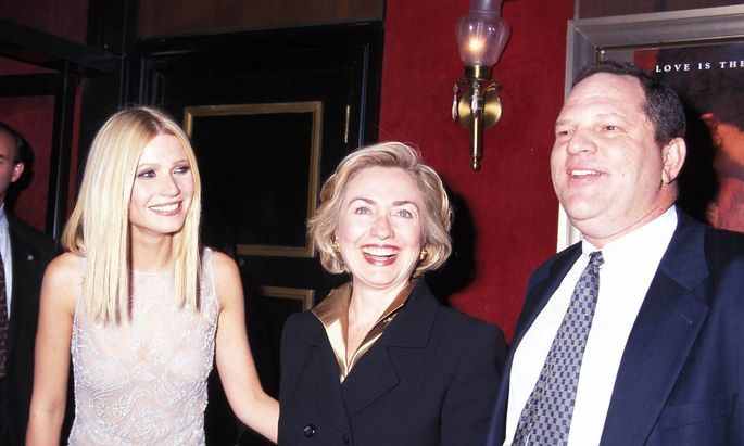 Gwyneth Paltrow, Hillary Clinton und Harvey Weinstein.