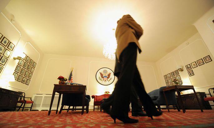 In der US-Botschaft in Wien. Mitarbeiter erkrankten am mysteriösen Havanna-Syndrom.