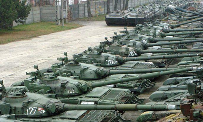 Slowakei Eine Armee legt