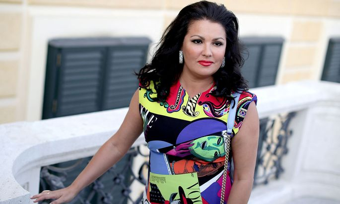 Russian-Austrian soprano singer Anna Netrebko poses for photographers ahead of a news conference in Vienna