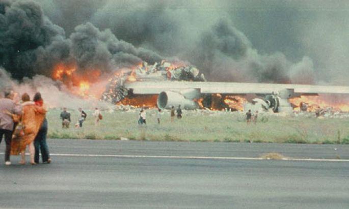 In der brennenden Boeing 747 der KLM starben alle 248 Insassen.