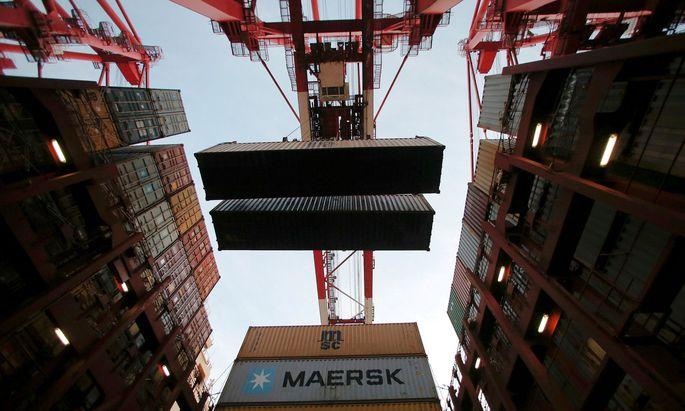 """Die weltgrößte Containerreederei Maersk berichtet von """"historisch hohen Containerfrachten"""" (Archivbild)."""