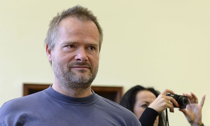 Archivbild: MArtin Balluch nach seinem Freispruch im Jahr 2011