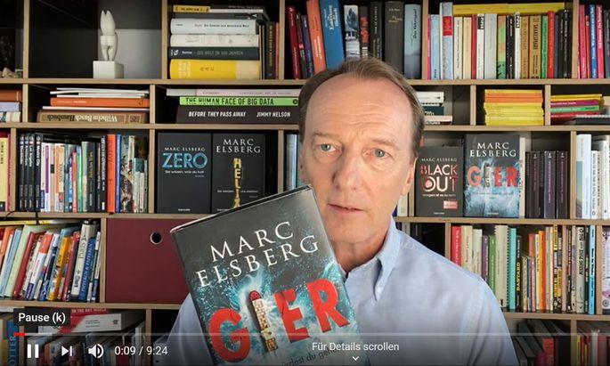 """Marc Elsberg liest aus """"Gier""""."""