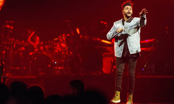 MIAMI FL OCTOBER 24 The Weeknd performs during the Starboy World Tour at the American Airlines Arena in Miami October 2