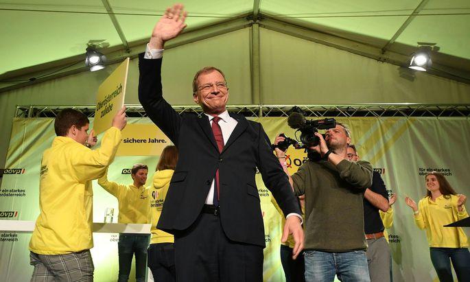 Ein siegessicherer Thomas Stelzer (ÖVP)