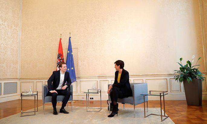 Head of OeVP Kurz meets head of SPOe Rendi-Wagner in Vienna