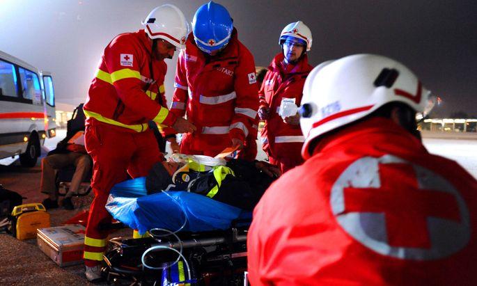 Immer zur Stelle, wenn Hilfe benötigt wird: das Rote Kreuz