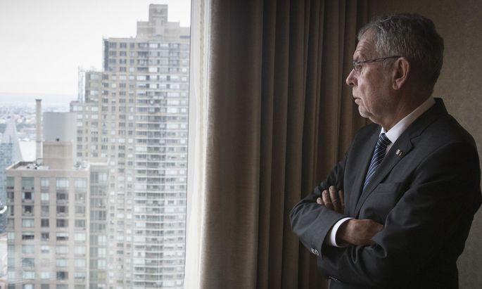 Bundespräsident Alexander Van der Bellen in New York.